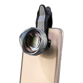 Universal premium telephoto lens of telescope lens clip on for IOS Android silver TOP