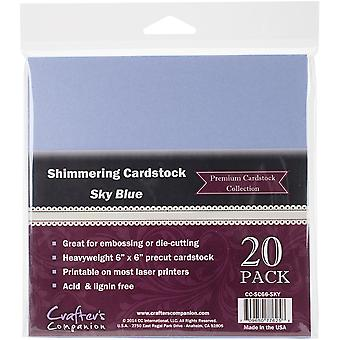 Crafter's Companion Shimmering Cardstock 6