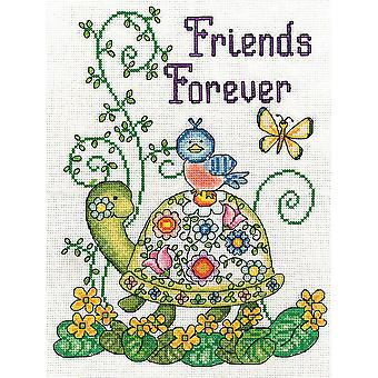 Friends Forever (Turtle) Counted Cross Stitch Kit-8