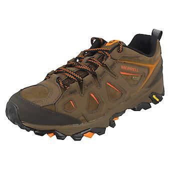 Mens Merrell Walking Trainers Moab Fst Ltr J37809 - Dark Earth Leather - UK Size 11M - EU Size 46 - US Size 11.5