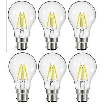 6 X Energizer 7.2W = 60W conduit à incandescence GLS ampoule lampe Vintage BC B22 baïonnette bouchon [classe énergétique A +]