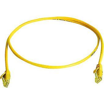 Telegärtner RJ45 Networks Cable CAT 5e U/UTP 5 m Yellow Flame-retardant, Halogen-free