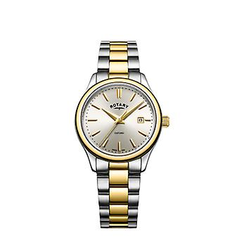 Rotary Womens Oxford Two Tone Gold Silver Bracelet LB05093/03 Watch