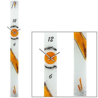 Wanduhr Quarz Uhr Kunsthandwerk Design Floatglas Erzgebirge