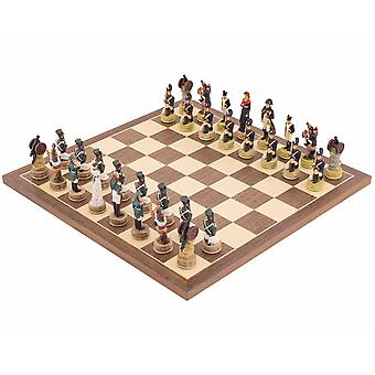 The Napoleon Vs Russians Hand painted themed Chess set by Italfama
