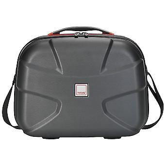 Titan X 2 sort børstet hard shell Beautycase kosmetiske sag 825702-03