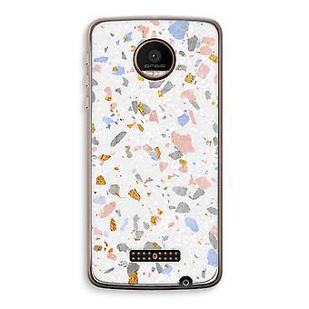 Motorola Moto Z Force Transparent Case (Soft) - Terrazzo N°8