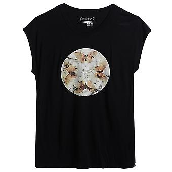 Animal Crystal Wings Short Sleeve T-Shirt