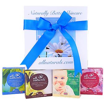 Mum and Baby Organic Soap Gift Box with All Natural Soaps 400g