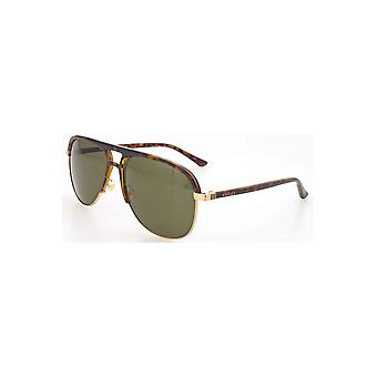Gucci Green Aviator Sunglasses Gg0292S 003 60
