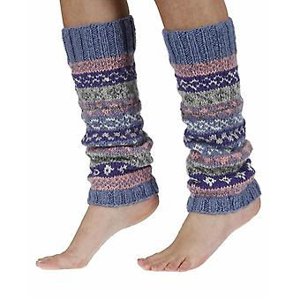 Finisterre warm handmade wool legwarmer in violet | By Pachamama