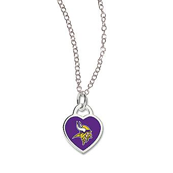Wincraft ladies Heart Necklace - NFL-Minnesota Vikings