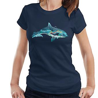 Dolphin Scuba Diver Silhouette Women's T-Shirt