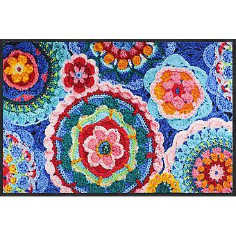 Salonloewe Fußmatte Crochet 50 x 75 cm waschbar Schmutzmatte