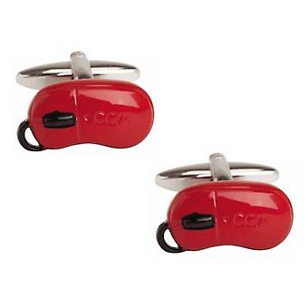Zennor Computer Mouse Cufflinks - Red