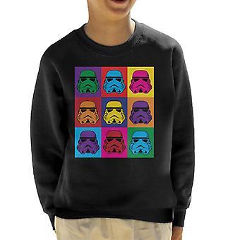 Original Stormtrooper Pop Art Kinder Sweatshirt