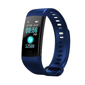 De multifunctionele taak Y5 armband met kleur scherm-donker blauw