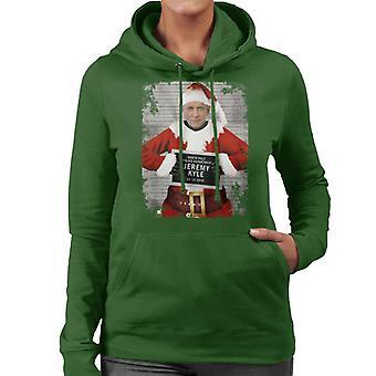 Christmas Mugshot Jeremy Kyle Women's Hooded Sweatshirt
