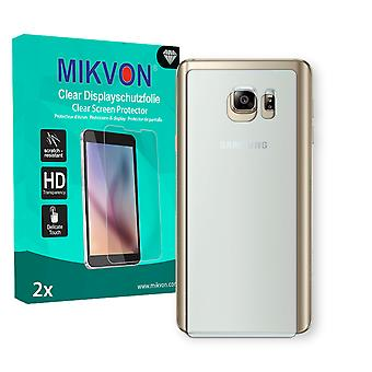 Samsung Galaxy Note 5 Duos (SM-N920CD) reverse Screen Protector - Mikvon Clear (Retail Package with accessories) (reduced foil)