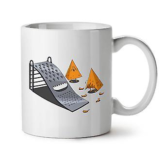 Grater Slide NEW White Tea Coffee Ceramic Mug 11 oz | Wellcoda