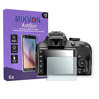 Nikon D3400 Screen Protector - Mikvon AntiSun (Retail Package with accessories)
