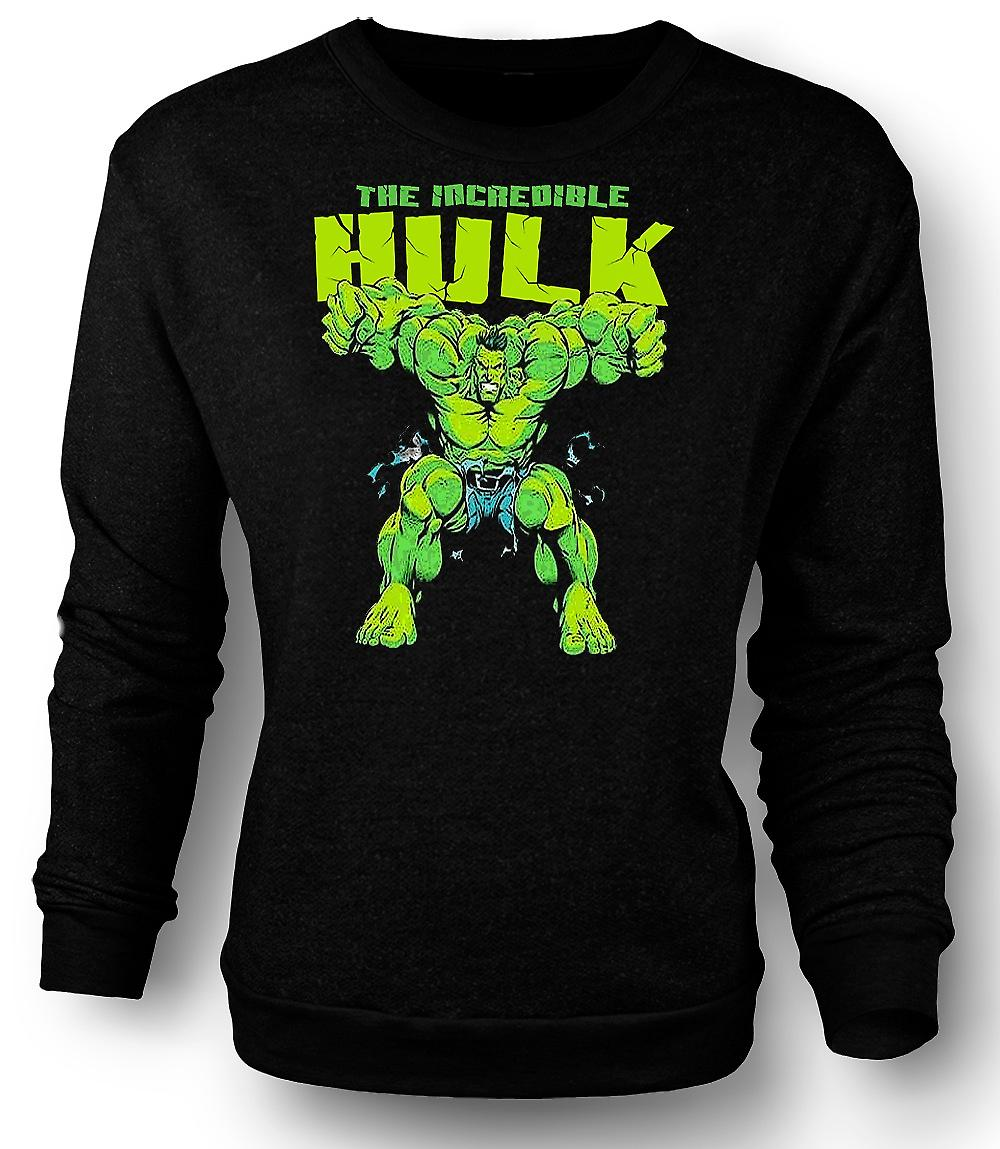 Mens Sweatshirt Incredible Hulk - komiske Hero