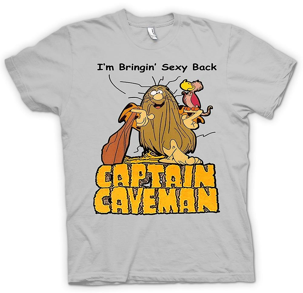 Mens T-shirt - Captain Caveman - Funny Cartoon - Bring Sexy