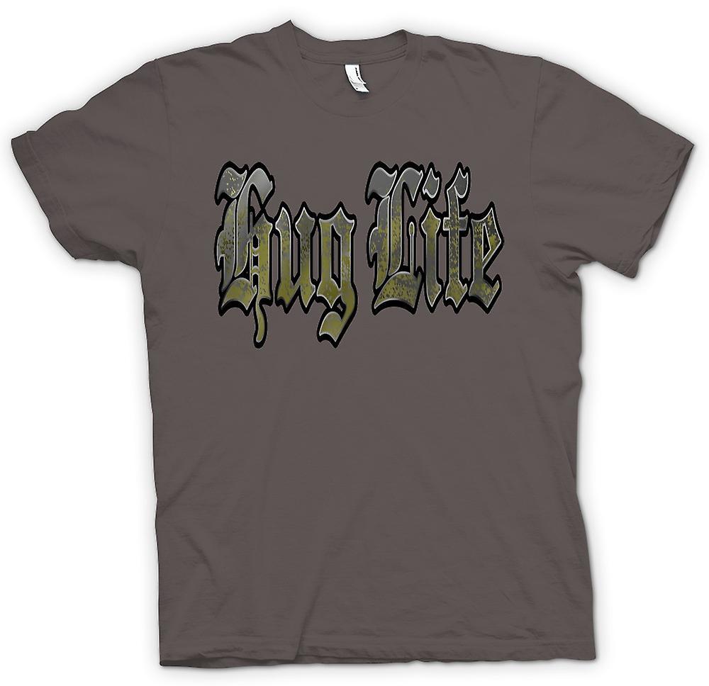 Mens T-shirt - Hug Life - Gangster - lustig