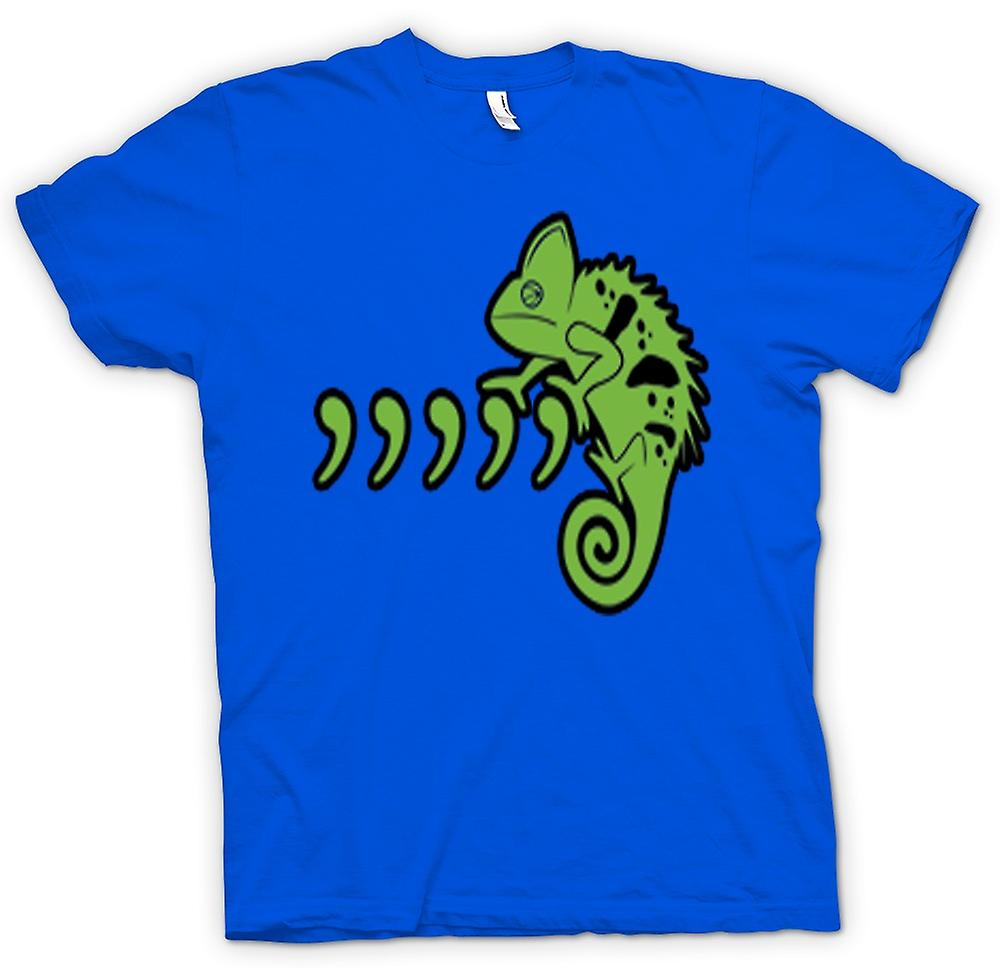 Mens t-shirt-animale domestico Iguana Lizard e virgole