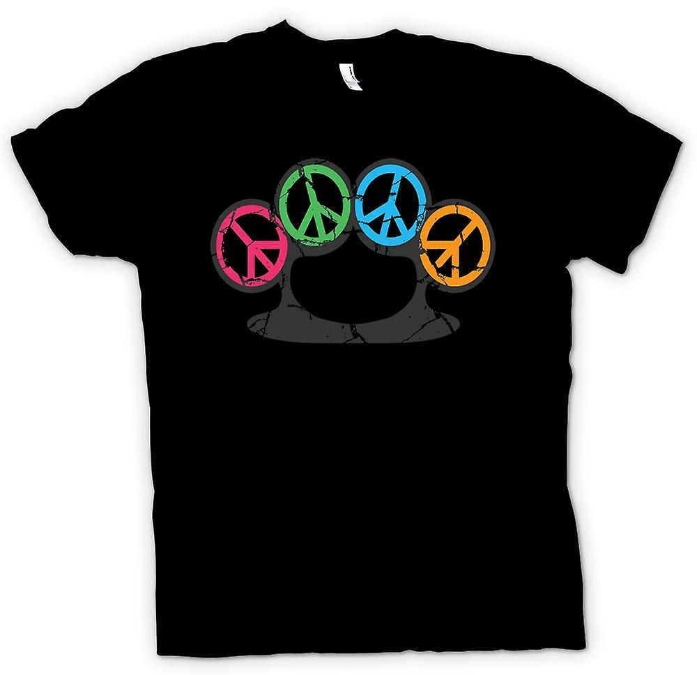 Womens T-shirt - Peace Knuckle Duster - Weapon Of Peace
