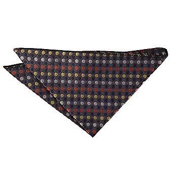 Oro, argento e arancio striato Polka Dot Pocket Square