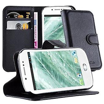 Cadorabo Case for WIKO SUBLIM - Phone Case with Magnetic Closure, Stand Function and Card Compartment - Case Cover Case Case Case Case Book Folding Style