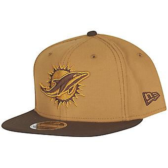 Ny æra opprinnelige-fit Snapback Cap - Miami Dolphins tan beige