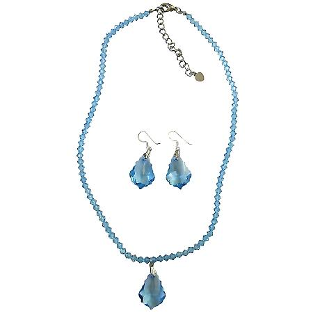 Fashion Classic Chic Trendy Aquamarine Baroque Jewelry