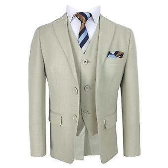 Elegant Page Boys Suit in Beige