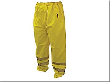Scan Hi-Vis Motorway Trouser Yellow - XL (42-44in)