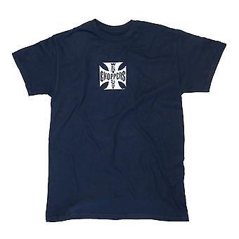 West Coast choppers mens cross ATX Navy T-Shirt