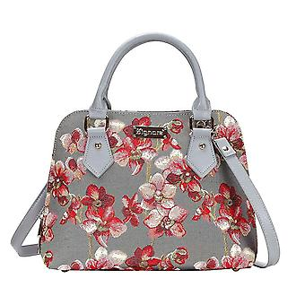 Orchid top-handle shoulder bag by signare tapestry / conv-orc