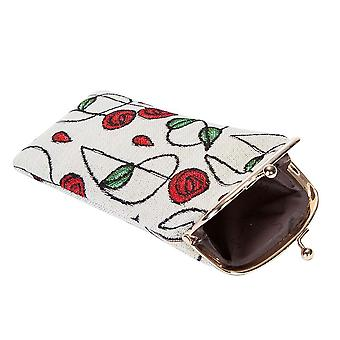 Mackintosh - simple rose glasses pouch by signare tapestry / gpch-rmsp