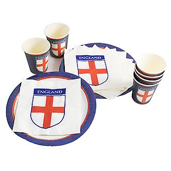 TRIXES 18PC England Party Pack Red White and Blue
