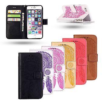 IPhone 7/8-lederen portemonnee Case-Dream Catcher