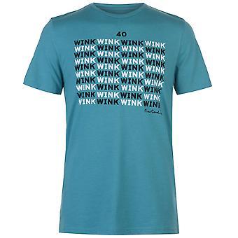 Pierre Cardin Mens Graphic Print Pyjama Tee Top Crew Neck Regular Fit