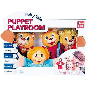 Large 4 Hand Puppets - Goldilocks & The 3 Bears
