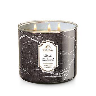 Bath & Body Works Black Teakwood 3 Wick Scanted Candle 14.5 oz / 411 g