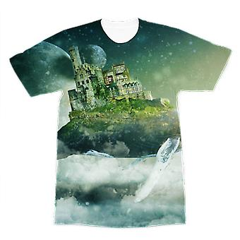Flying over the world premium sublimation adult t-shirt