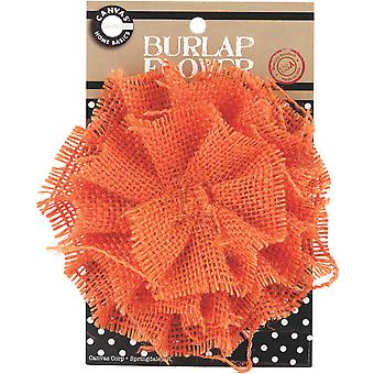 Burlap Flower Orange Burflwr 3028