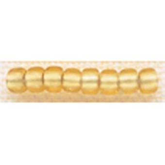 Mill Hill Glass Beads Size 6 0 4Mm 5.2 Grams Pkg Frosted Gold Gbd6 16031