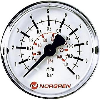 Manometer Norgren 18-013-014 Back side 0 up to 25 bar External thread R1/8