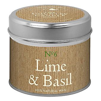 Simply Natural Collection Candle in a Tin - Lime & Basil