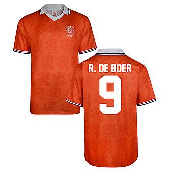 Score Draw Holland World Cup 1994 Home Shirt (R De Boer 9)